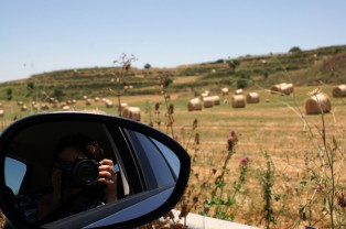 Bild von Strohballen auf einer Sizilien-Rundreise
