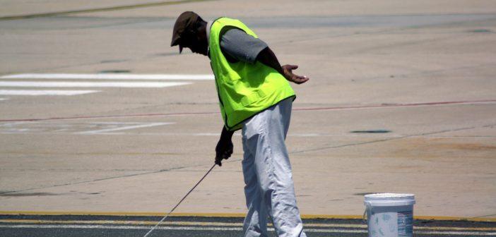 Bemalung des Flughafens Port Elizabeth in Südafrika