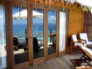 Aussicht von der Terrasse auf den indischen Ozean