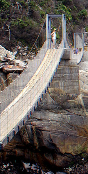 Tsitsikamma-Hängebrücke