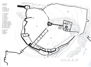 Grundriss Castelgrande Schloss Bellinzona Tessin