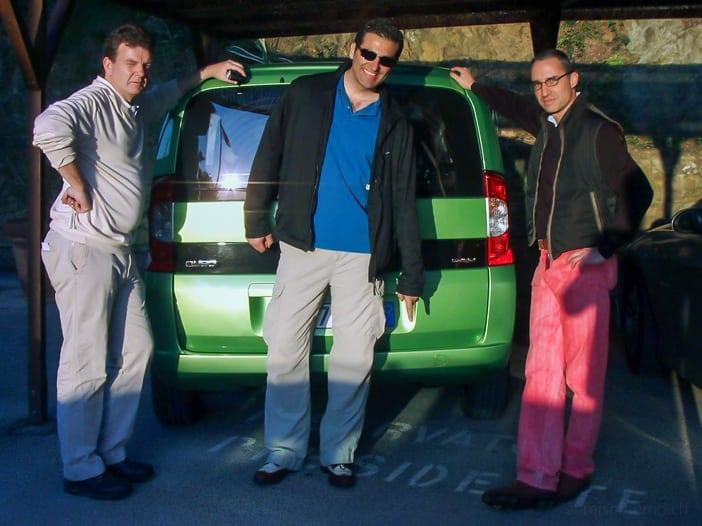 Balz, Daniel, Walter im Punta Ala Golfplatz
