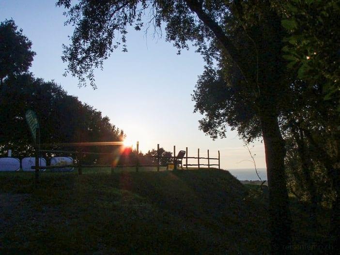 Sonnenuntergang über dem Punta Ala Golfplatz