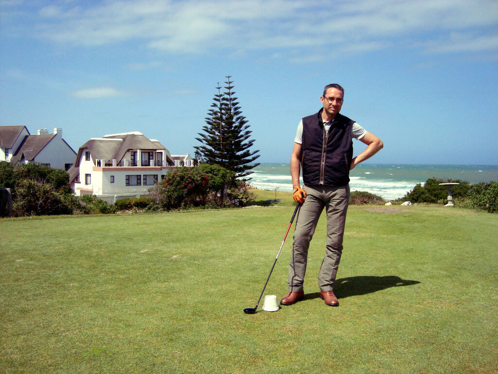 Reisememo-Gründer und Chefredaktor Walter Schärer im St-Francis Golf in Südafrika