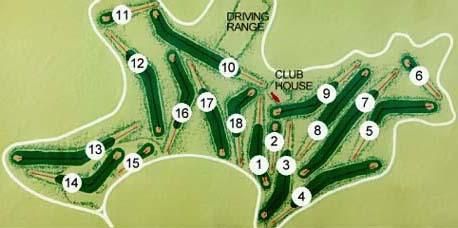 Layout der Golfbahnen im Punta Ala Golfplatz