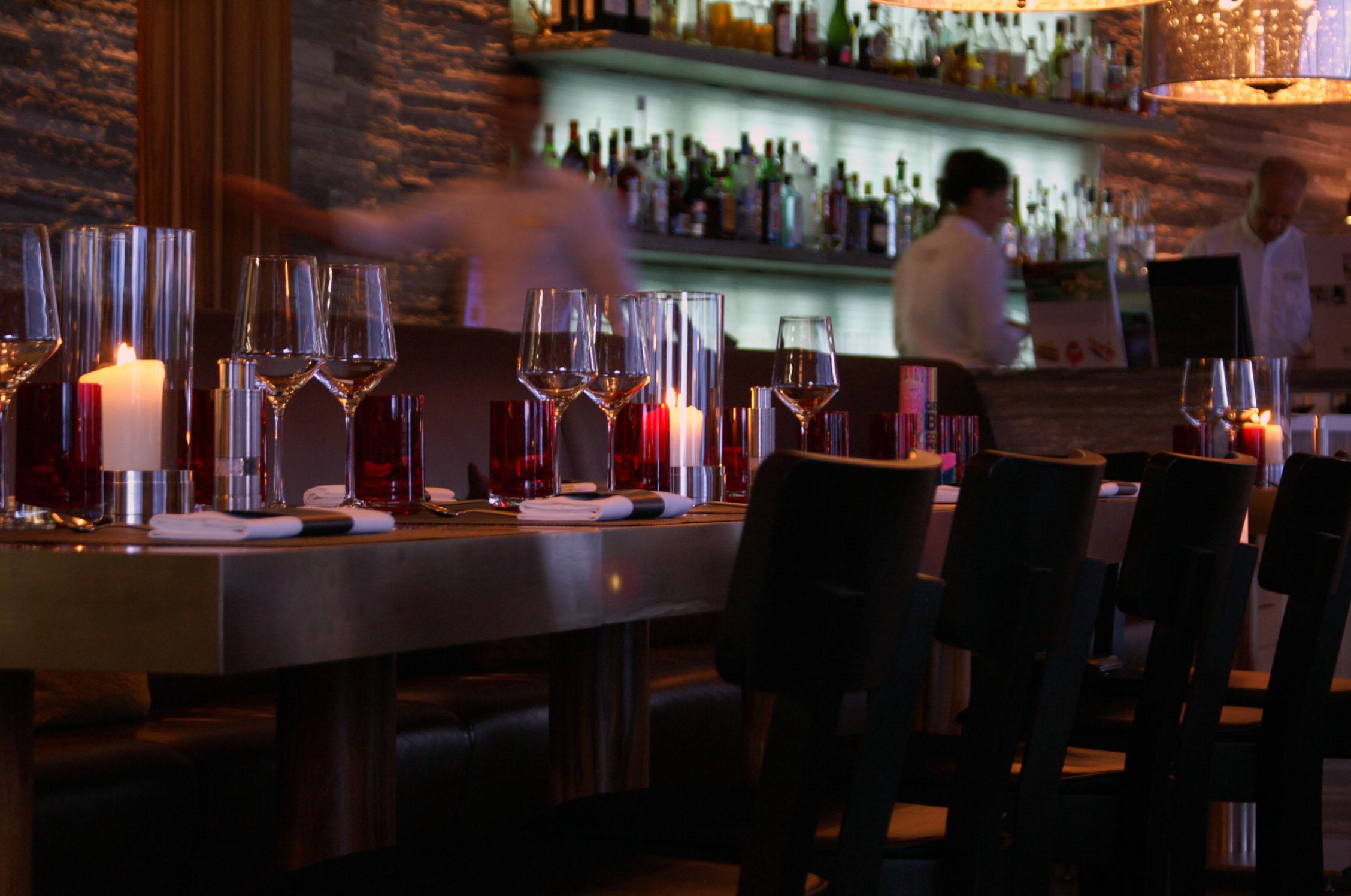 Bar des Restaurant Seven in Ascona