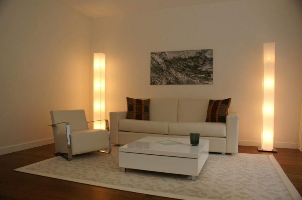 Wohnzimmer der Spa Loft Superior Suites im Quellenhof Bad Ragaz
