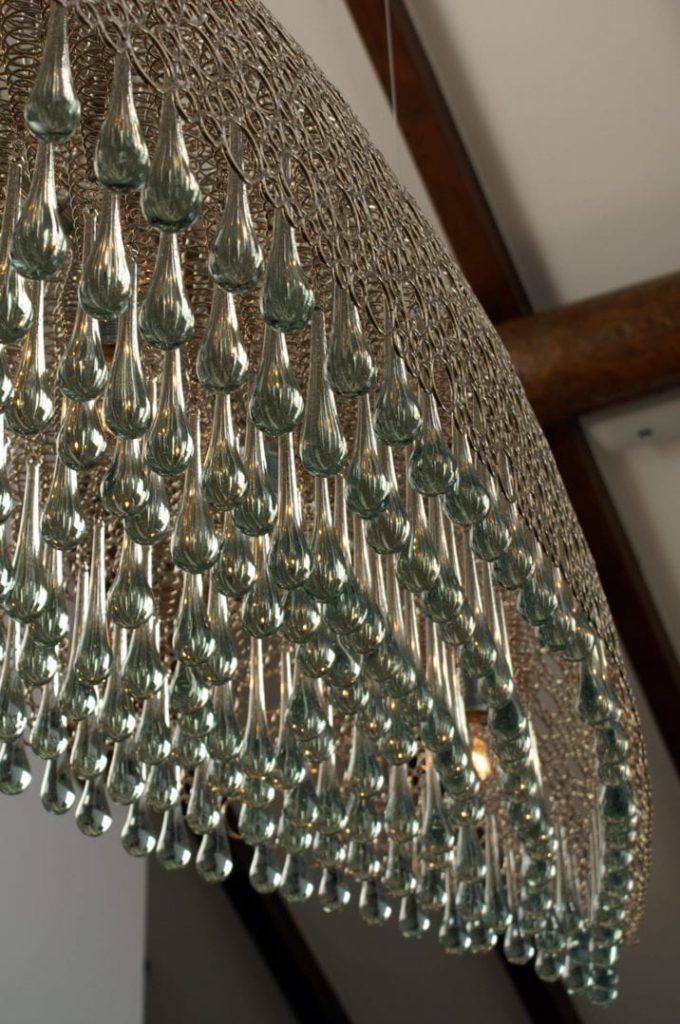 Teil der Leuchte in der Lobby des Giardino Mountain Hotel in Champfàƒ¨r bei St. Moritz