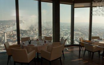 Aussicht vom Clouds Restaurant im Prime Tower