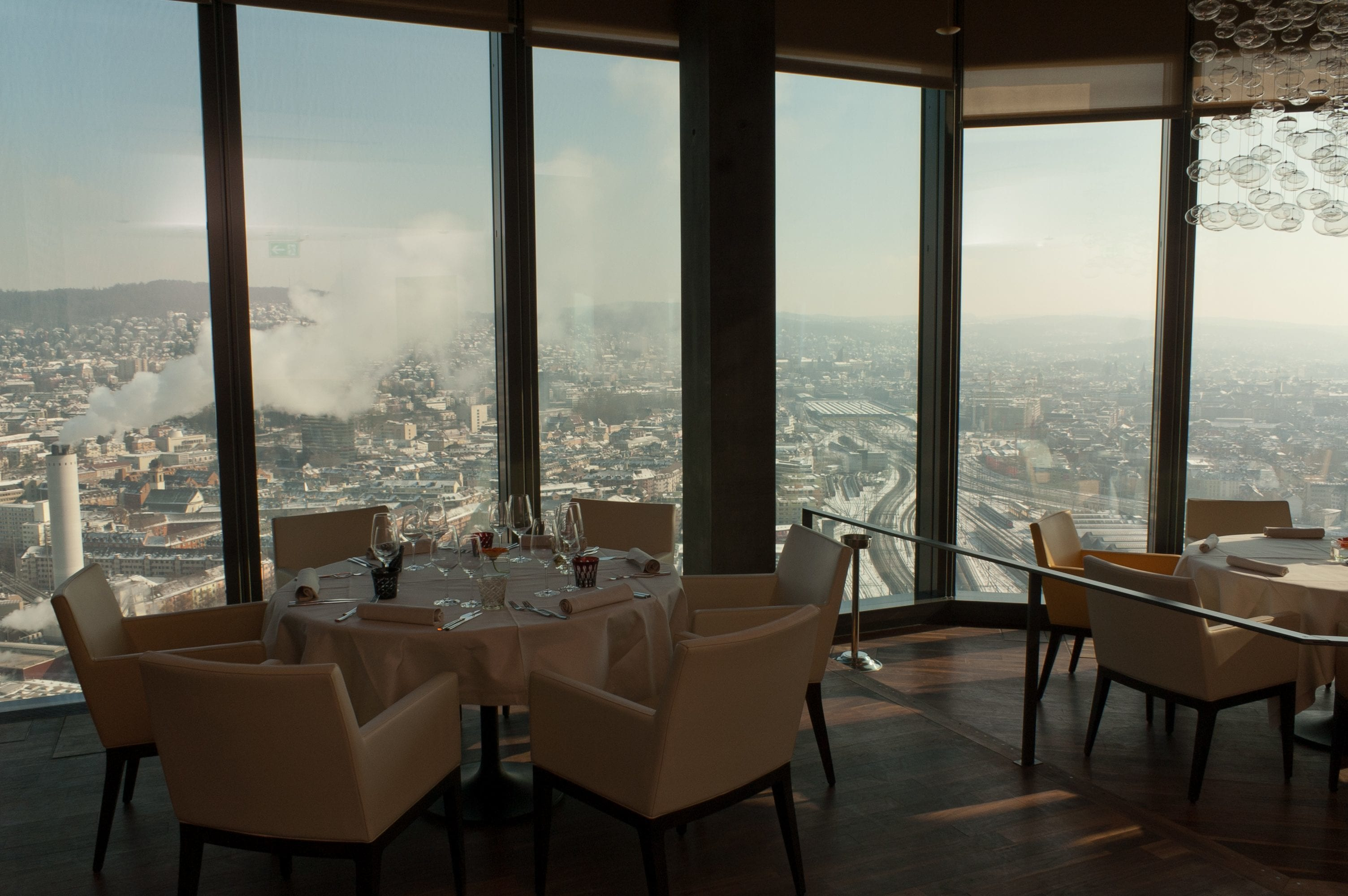 Aussicht vom Clouds Restaurant im Prime Tower