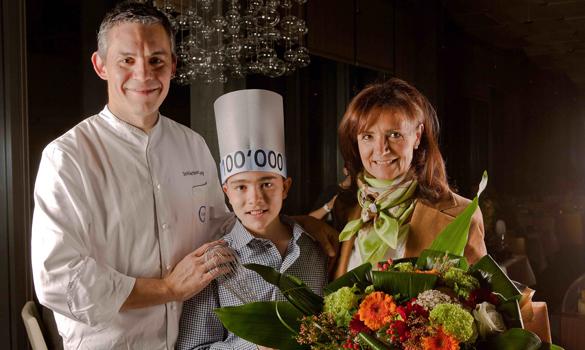 100'000ster Gast im Clouds Restaurant oben im Prime Tower