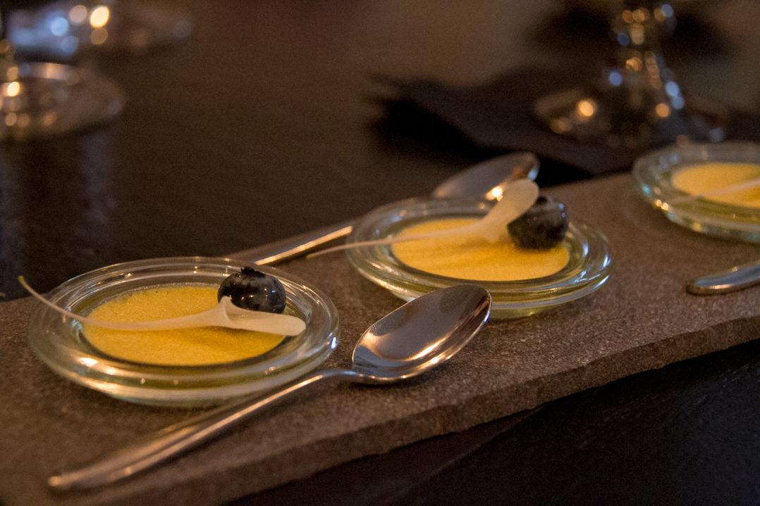Vanille-Häppchen zum Dessert im Matthiol