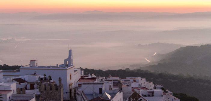 Morgenröte über Vejer de la Frontera