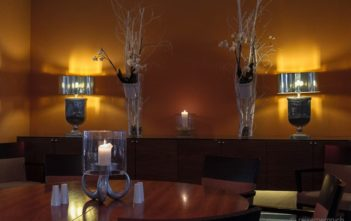 Restaurant Dekoration im Moevenpick Hotel Hamburg