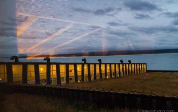Sonnenuntergang im Remota Hotel in Patagonien, Chile