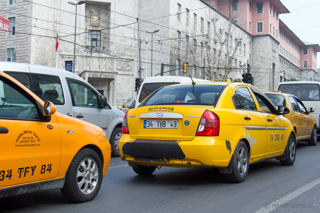 Gelbe Taxis in Istanbul