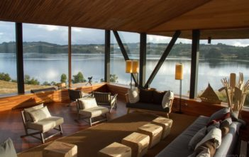 Lounge des Refugia Hotels in Chiloe
