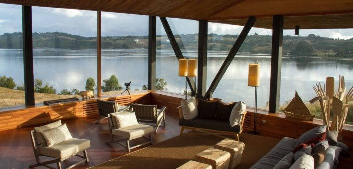 Lounge des Refugia Hotels in Chiloe