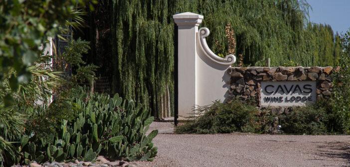 Einfahrt zur Cavas Wine Lodge bei Mendoza