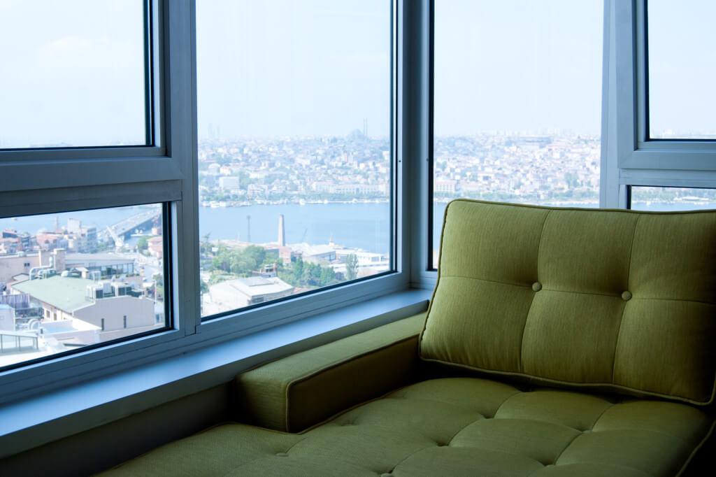 Hier geniesst man die Aussicht auf den Bosporus
