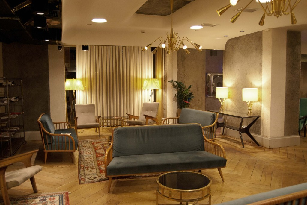 Die Lounge im Stil der 50er Jahre
