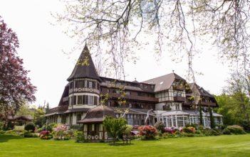 Garten des Vieux Manoir Landhaus bei Murten