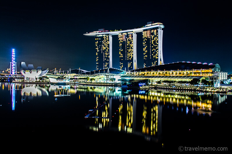 Marina Bay Sands Hotel, Casino, Kunstmuseum, Mall