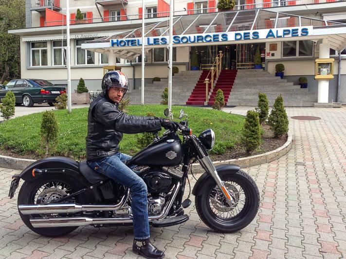 Walter-Schärer Harley-Davidson Les Sources des Alpes