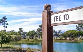 Troia golf course tee sign