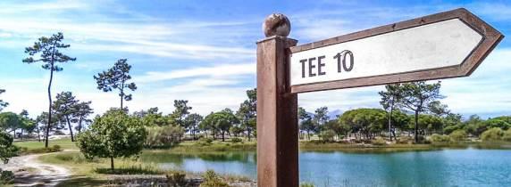 Tee-10 des Golfplatzes Troia Golf