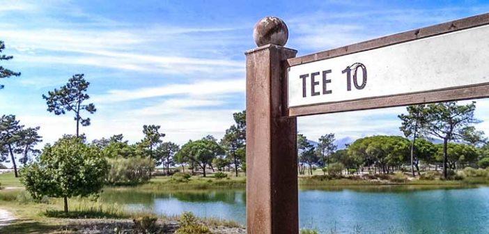 Troia golf course tee sign