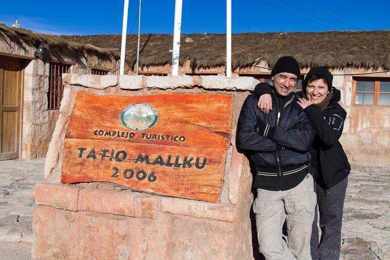 Walter Schärer und Katja Birrer bei den Tatio-Geysiren