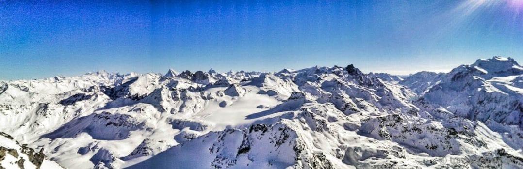 Mont-Fort Panorama auf 3330 M.ü.M mit dem Matterhorn