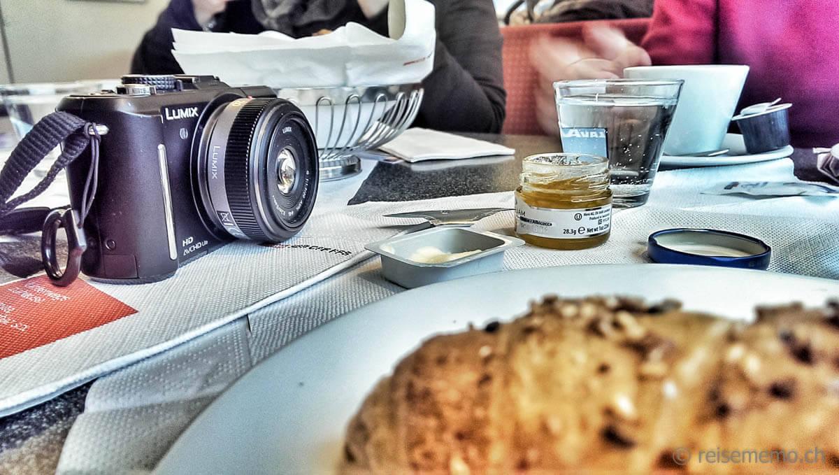 Lumix bei SBB Railaway zum Frühstück