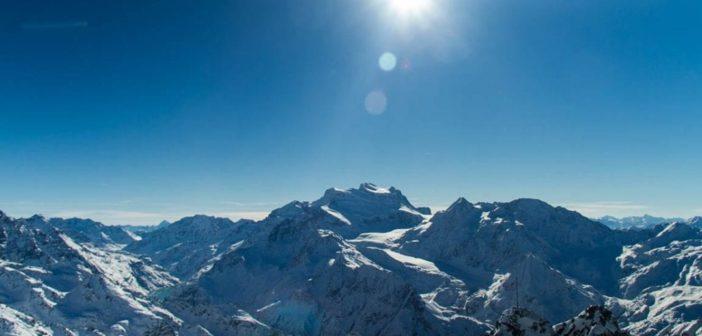 Ausblick vo Mont Fort auf 3'330 Meter ü.M.