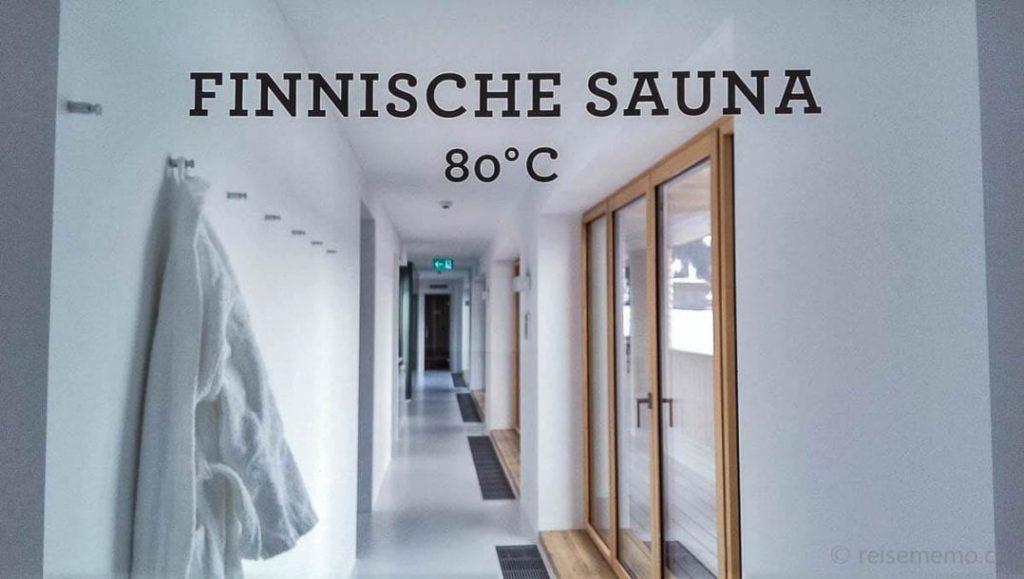 Finnische Sauna im Wellness des Bestzeit Parpan