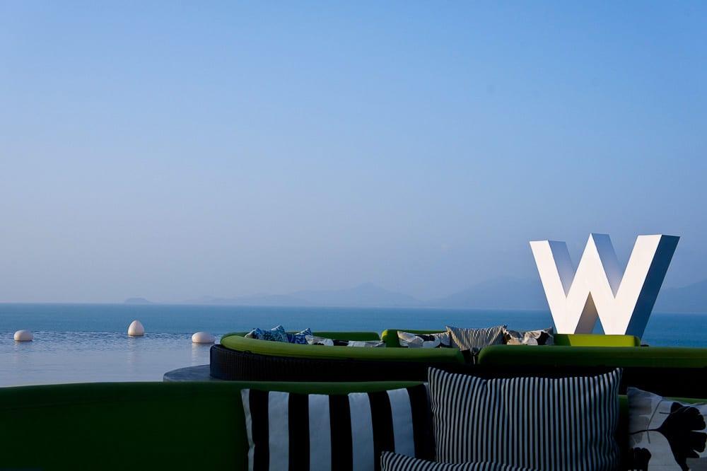 W Retreat lounge with a view of Koh Phangan