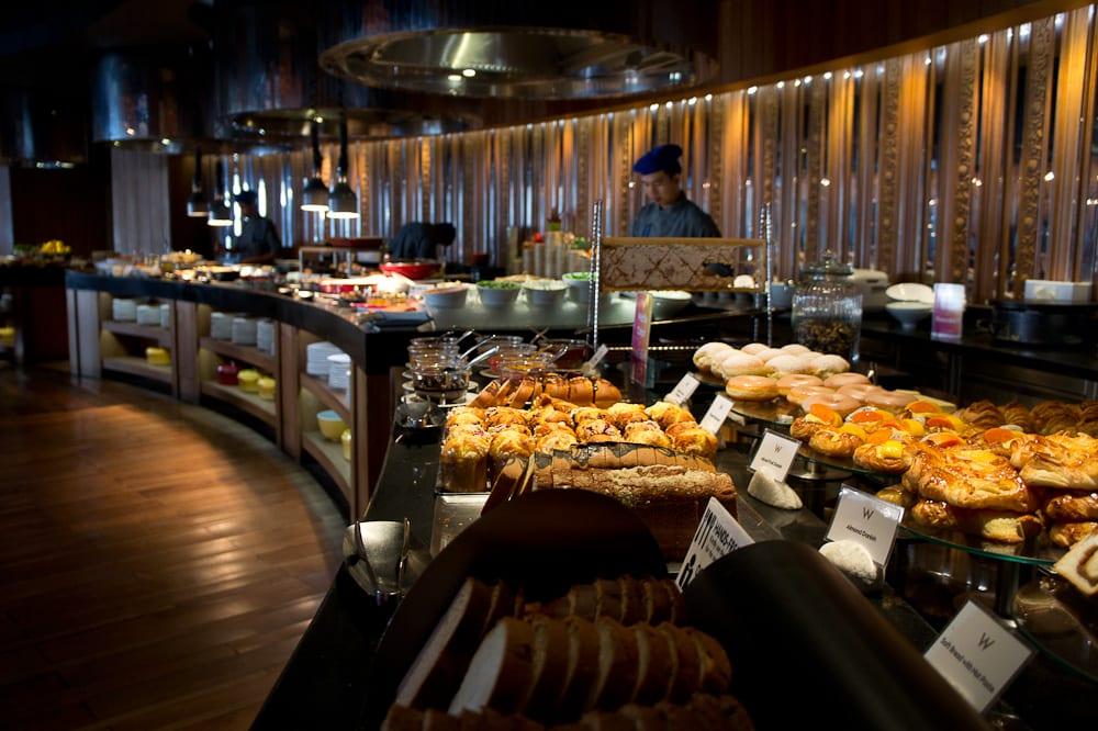 Breakfast buffet at the W Retreat Koh Samui