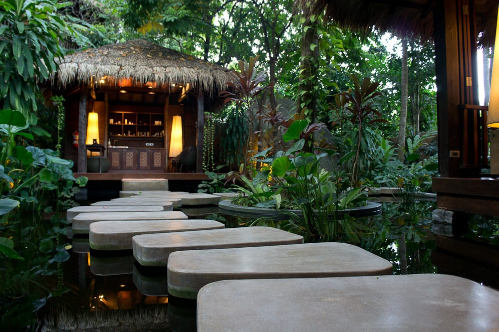 View into the spa of the Anantara Resort