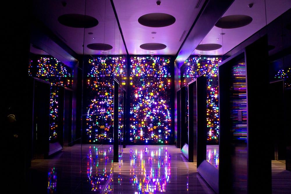 Light installation with countless tuk-tuk lights