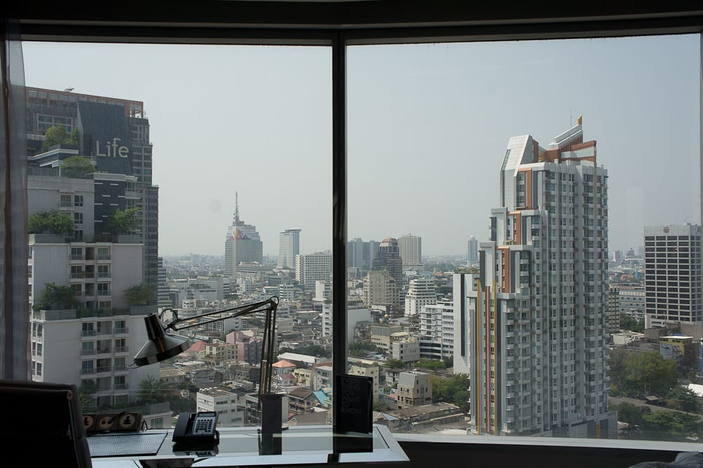 Working with a view of Bangkok