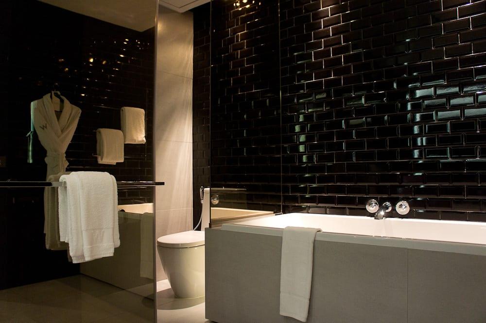 Bathroom in the W Bangkok