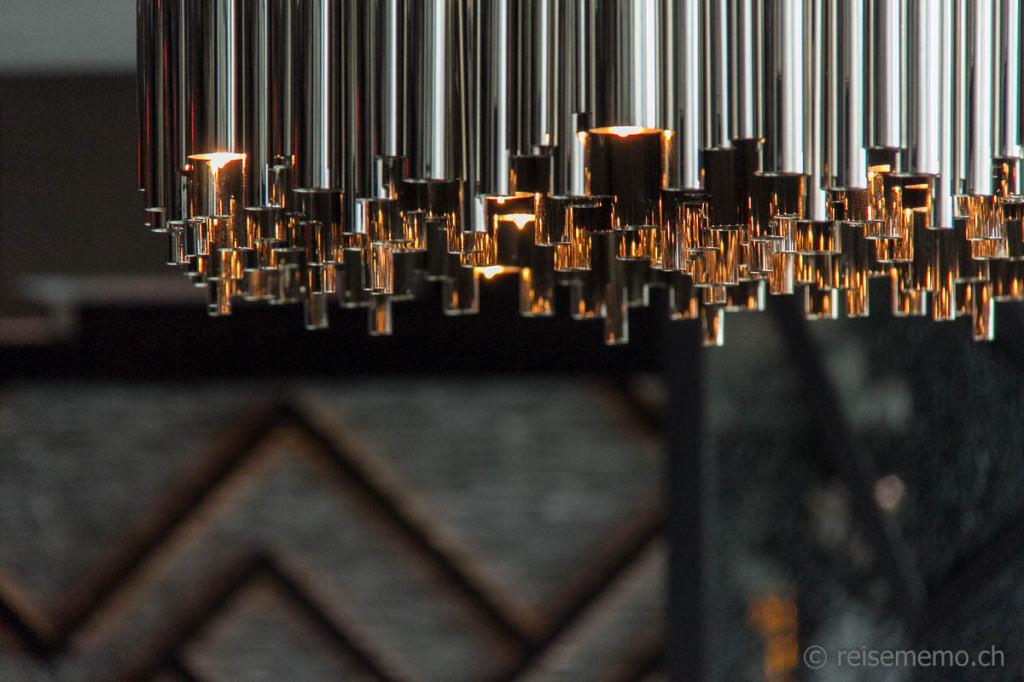 """Ceiling lamp in the restaurant """"Studio Grigio"""""""