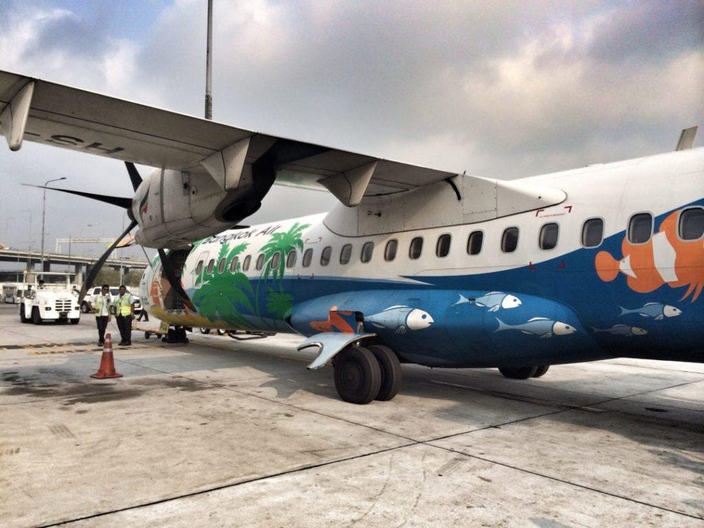The ATR 72-500 Bangkok Airways aircraft
