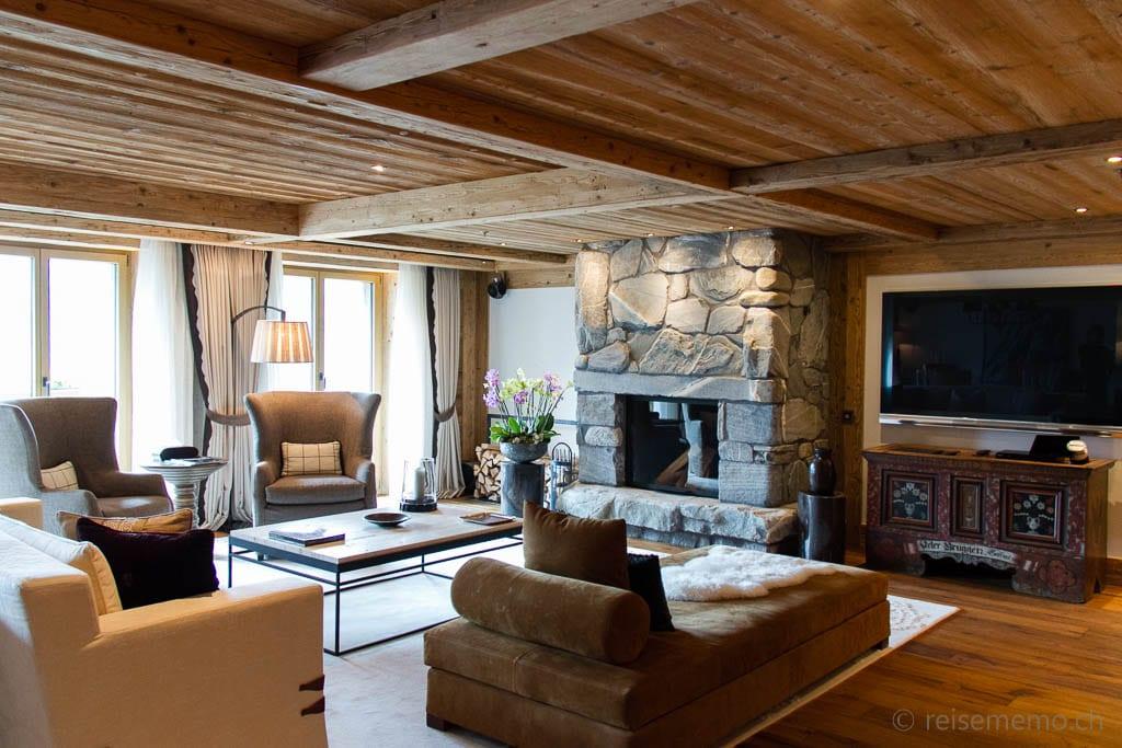 Wohnbereich der Panorama Suite