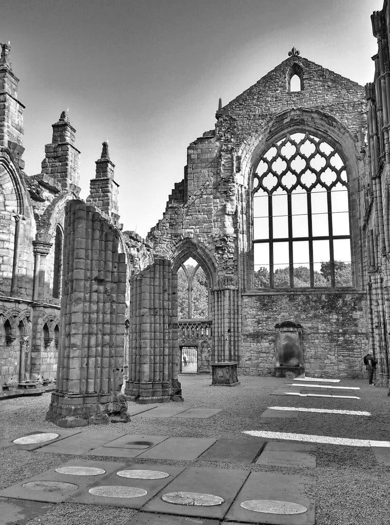 Ruine der Holyrood Abbey in Edinburg