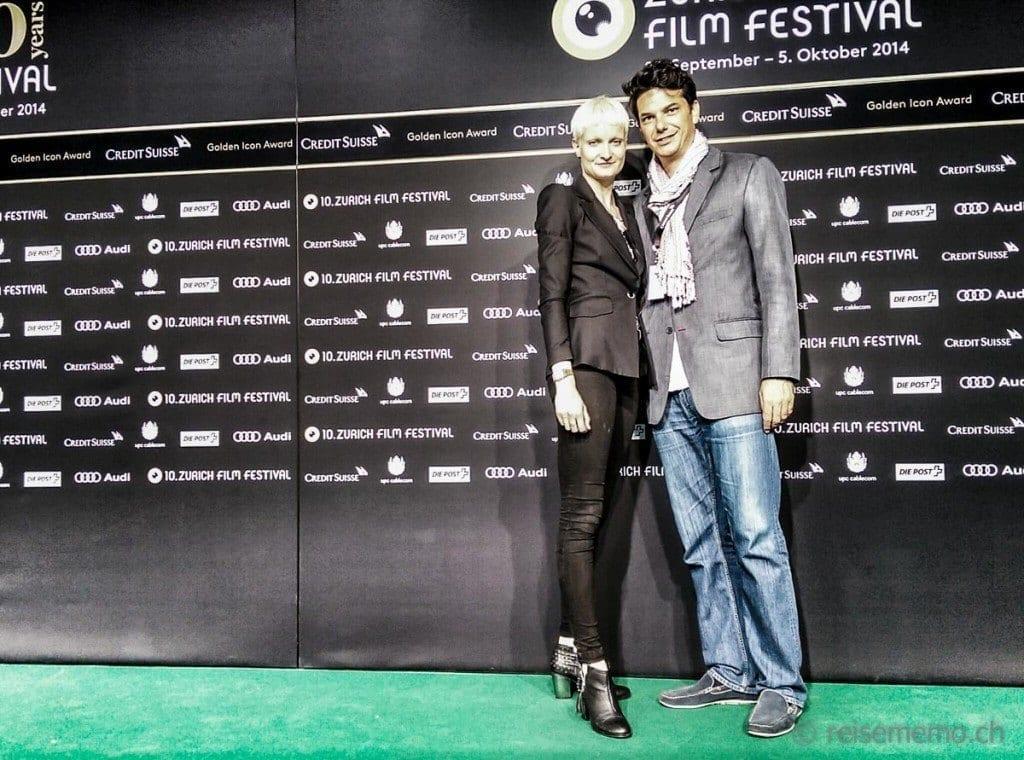 Manuela und Alexi auf dem grünen Teppich des Zürich Film Festivals