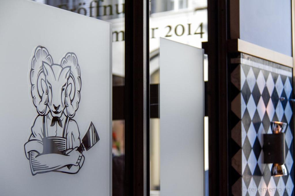 """""""Metzger-Logo"""" des Restaurants im Widder Hotel"""
