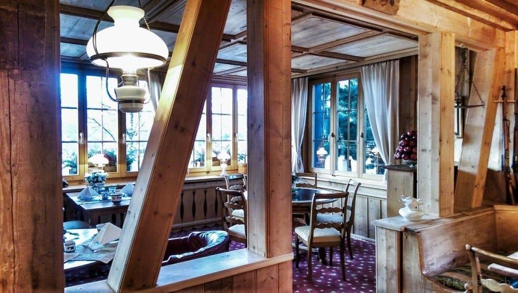 Holzfachwerk im Azalée Gourmet Restaurant