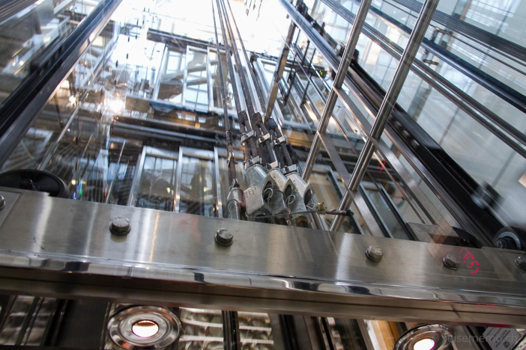 Glaslift des Widder Hotels